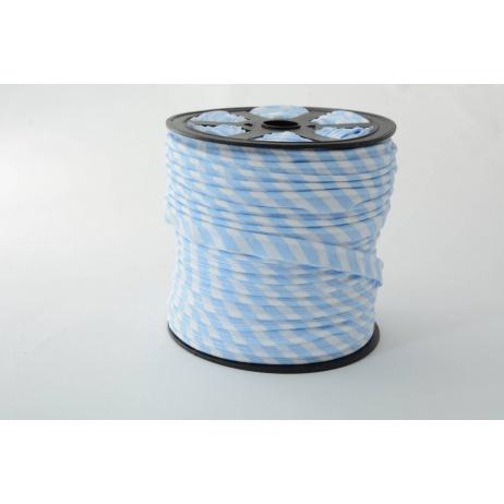 Cotton edging ribbon 5mm blue stripes