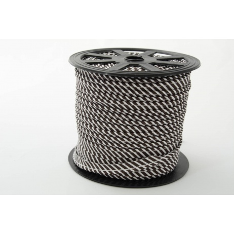 Cotton edging ribbon 2mm black stripes