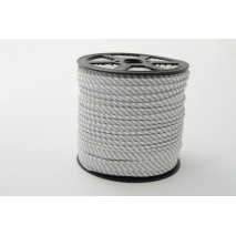 Cotton edging ribbon 2mm light gray stripes