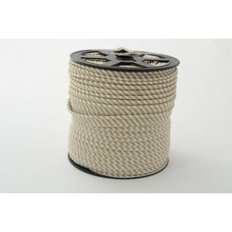 Cotton edging ribbon 2mm beige stripes