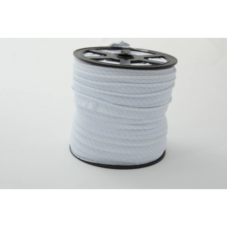 Cotton edging ribbon 2mm light blue stripes