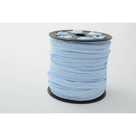 Cotton edging ribbon, 2mm blue stripes