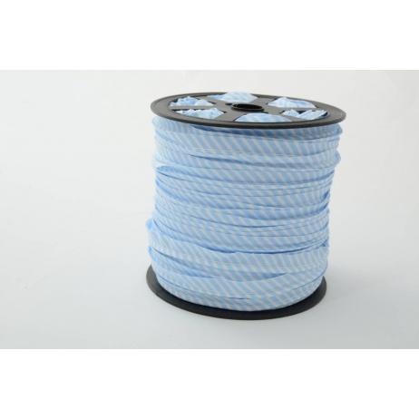 Wypustka bawełniana w 2mm niebieskie paseczki