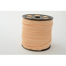 Cotton edging ribbon, 2mm peach stripes