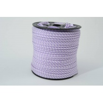 Cotton edging ribbon, 2mm violet stripes