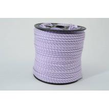 Wypustka bawełniana w 2mm fioletowe paseczki