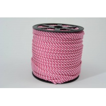 Cotton edging ribbon, 2mm fuchsia stripes