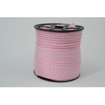 Wypustka bawełniana w 2mm różowe paseczki