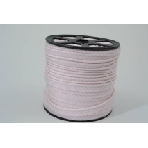 Cotton edging ribbon, 2mm light pink stripes