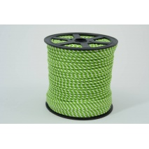 Cotton edging ribbon, 2mm green stripes