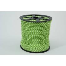 Wypustka bawełniana, paski 2mm zielone