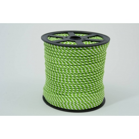 Cotton edging ribbon 2mm green stripes