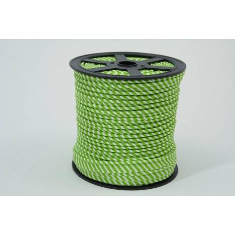 Wypustka, bawełna, paski 2mm zielone