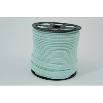 Cotton edging ribbon, 2mm mint stripes