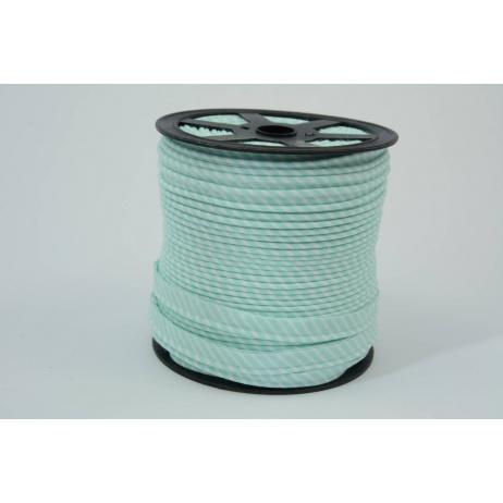 Cotton edging ribbon 2mm mint stripes