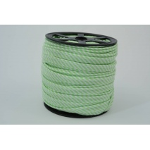 Cotton edging ribbon 2mm celadon stripes