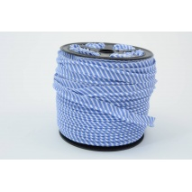 Cotton edging ribbon, 2mm dark blue stripes