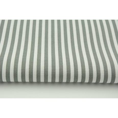 Cotton 100% stripes 5mm gray No 2