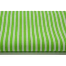 Bawełna 100% jaskrawozielone paski 5mm