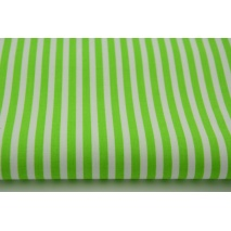 Cotton 100% stripes 5mm bright green