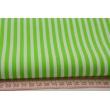 Cotton 100% stripes 5mm bright green