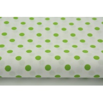 Cotton 100% green S 7mm dots on a white background