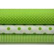 Bawełna 100% w zielone S kropki 7mm na białym tle