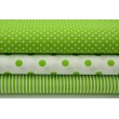 Cotton 100% green 7mm dots on a white background