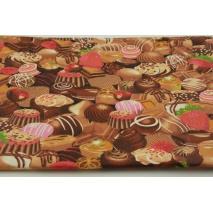 Bawełna 100% czekoladki, praliny