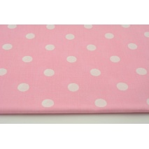 Cotton 100% polka dots 17mm on a pink background