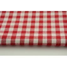 Bawełna 100% czerwona kratka vichy nr 2, dwustronna 1cm