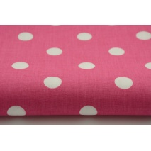 Cotton 100% polka dots 17mm on a fuchsia background