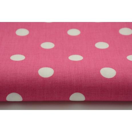Cotton 100% polka dots 17mm on a fuchsia background