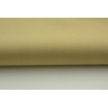 Drill, 100% cotton fabric in a plain medium beige color