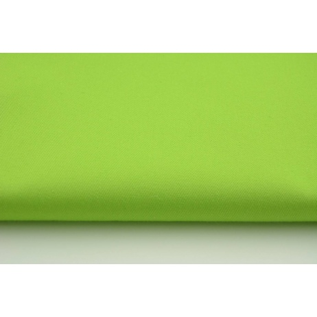 Drill, 100% cotton fabric in a plain green apple color