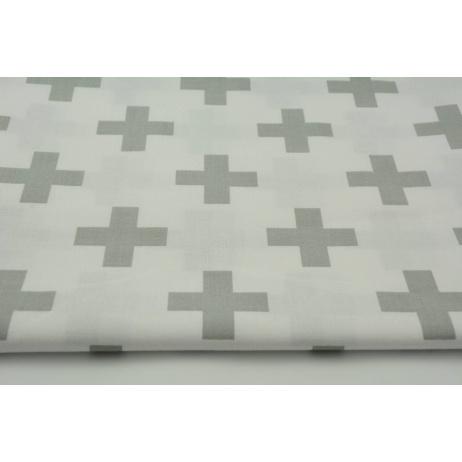 Cotton 100% light gray cross, plus on a white background