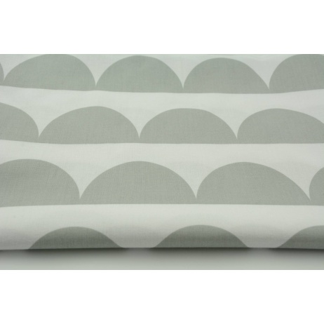Cotton 100% light gray half moon on a white background