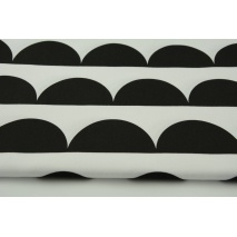 Cotton 100% black half moons on a white background