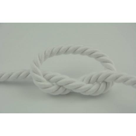 Sznurek bawełniany biały o średnicy 10mm