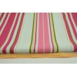 Stripes pink, red, green on a mint background, width 280cm