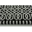 Cotton 100% imperial trellis on a black background