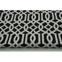 Cotton 100% imperial trellis on black background