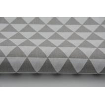 Bawełna 100% małe jasnoszare trójkąty G