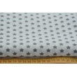 Bawełna gwiazdki szare 1cm na białym tle
