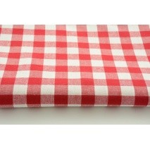 Bawełna 100% czerwona kratka vichy, dwustronna 2cm