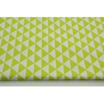 Bawełna 100% drobne zielone trójkąty