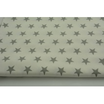 100% Bamboo gray 25mm stars on a cream background