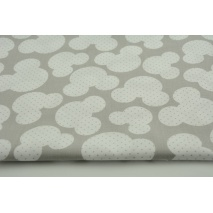 Cotton 100% mouses + dots on a gray background