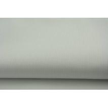 Bawełna prążkowana biała jednobarwna