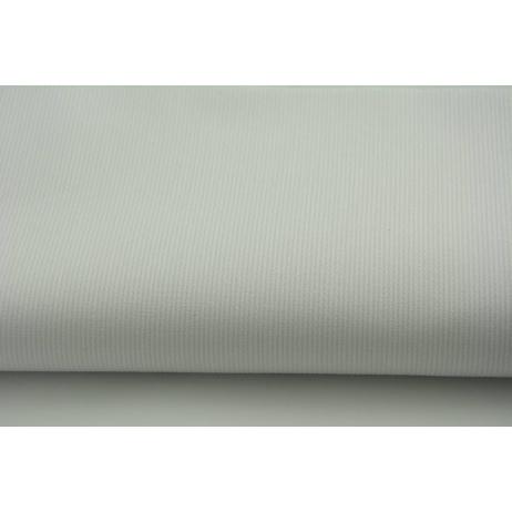 Ribbed 100% cotton, plain white